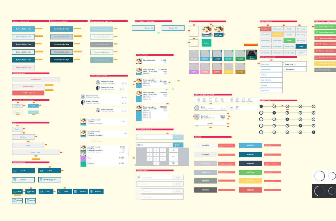 Framework and design guide for tablet app