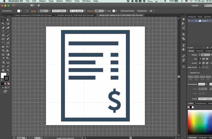 Designing an Icon set and turn it into a web font