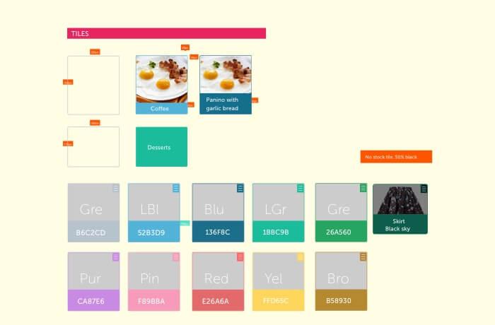 Framework and design spec for tablet app