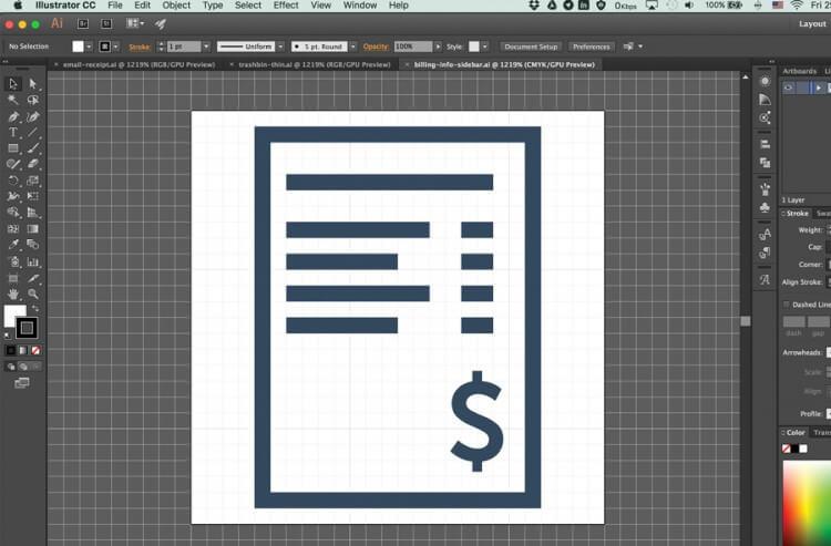 Icon set into webfont